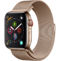 Watch S4 GPS + Cell S. Steel 44MM Gold-Milanese Loop