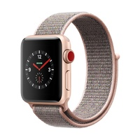 Watch S3 GPS + Cell Aluminium 38MM Gold- Pink Loop