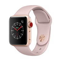 Watch S3 GPS + Cell Aluminium 38MM Gold- Pink Band