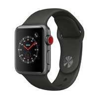 Watch S3 GPS + Cellular Alum 38MM Sp Gry-Grey Band