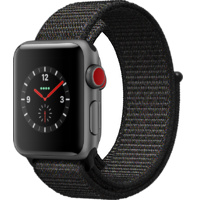Watch S3 GPS + Cell Alum  Black Sports Loop