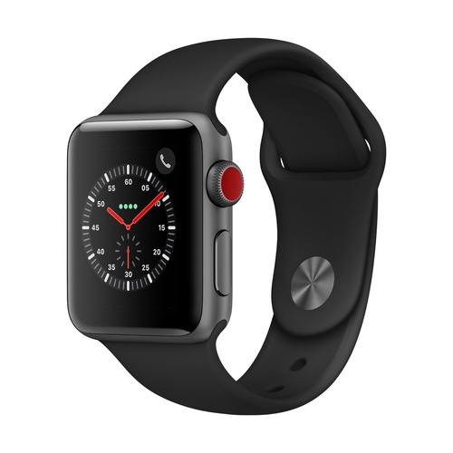 Watch S3 GPS + Cell Alum 38MM Sp Gry-Black Band